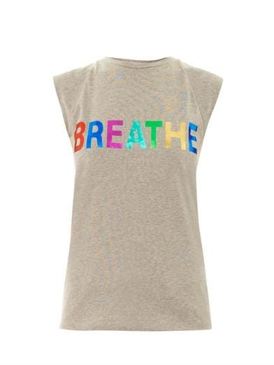 Breathe slogan-print T-shirt