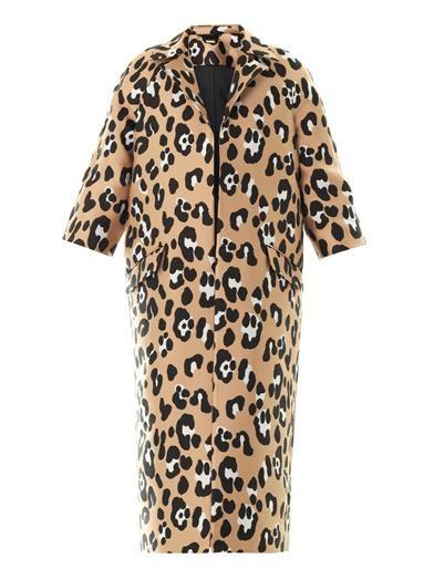 Leopard jacquard opera coat