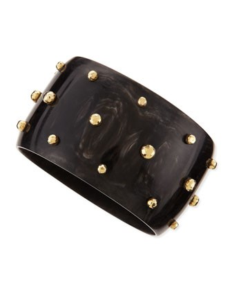 Studded Anga Bangle, Dark Horn