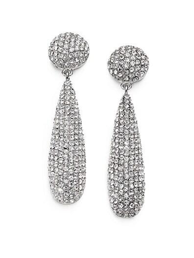 Pavé Teadrop Earrings