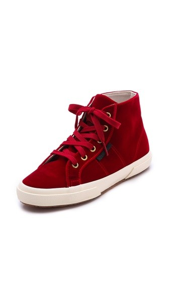 The Man Repeller X Superga Velvet High Top Sneaker
