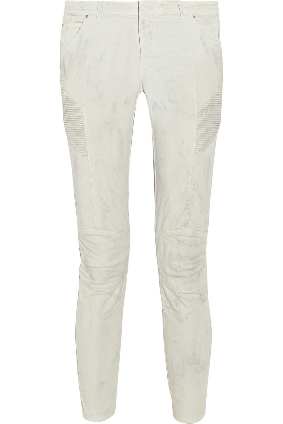 Printed mid-rise skinny jeans