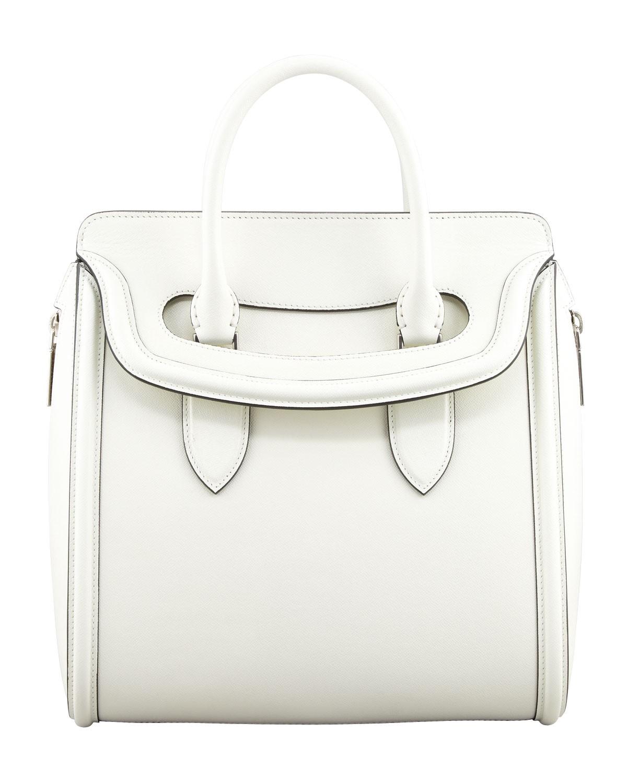Heroine Flap-Top Tote Bag, Ivory - Alexander McQueen