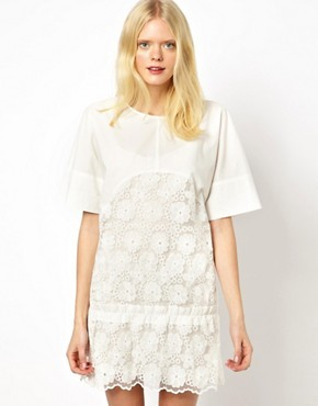 See by Chloe Flower Embroidered Dress