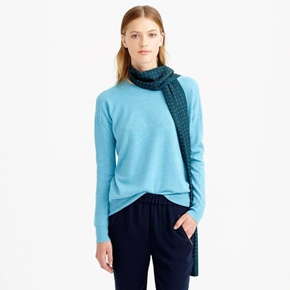 Collection cashmere textured boyfriend sweatshirt