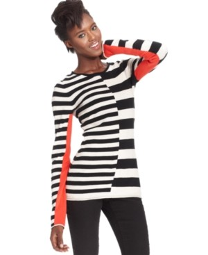 RACHEL Rachel Roy Colorblocked Striped Sweater