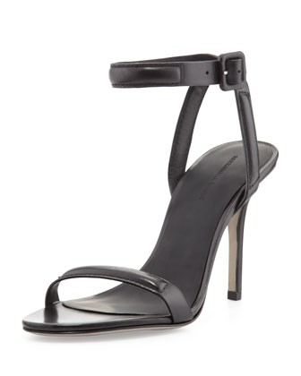 Antonia Ankle-Wrap Sandal, Black - Alexander Wang
