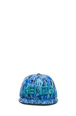 x New Era Block Flower Hat in Blue Multi