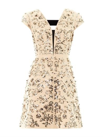 Scroll-embellished day dress
