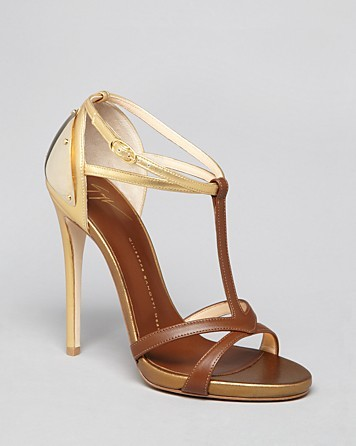 Giuseppe Zanotti Open Toe Platform Sandals Alien T Strap High Heel