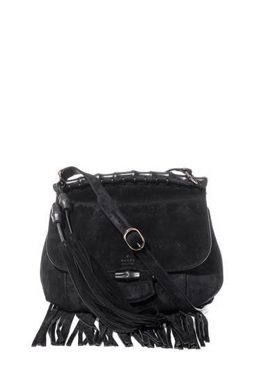 Nouveau fringed suede shoulder bag