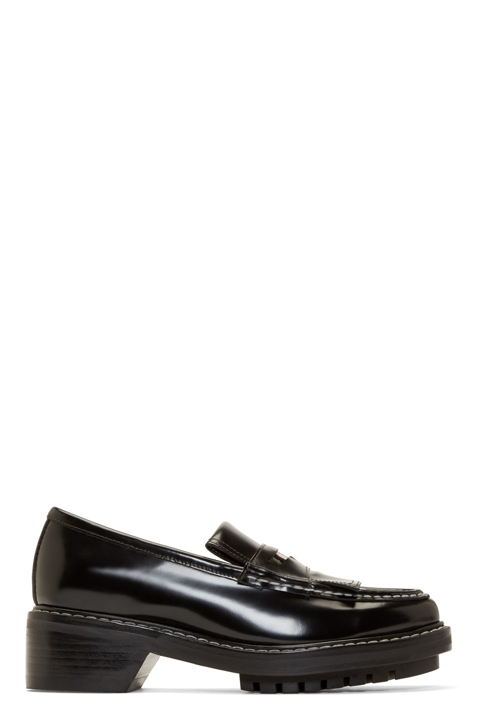 Rag And Bone Black Leather Anton Loafers