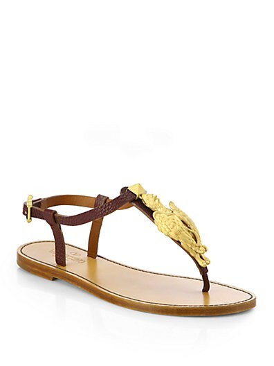 Ethno Elements Leather Thong Sandals