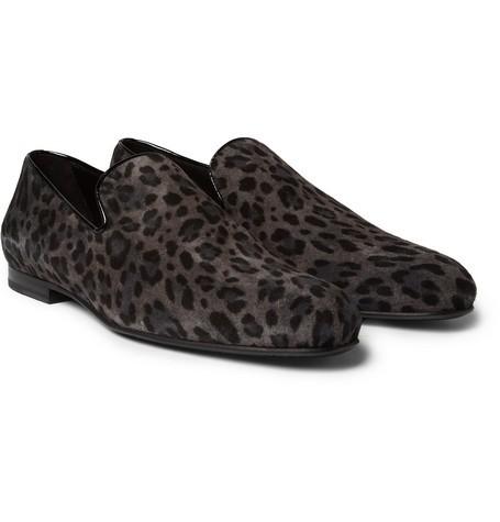 Sloane Leopard-Print Suede Slippers