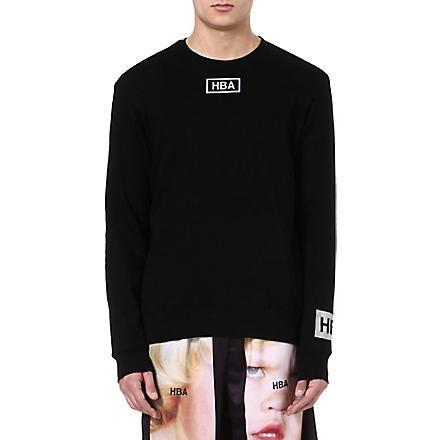Reflective logo sweatshirt