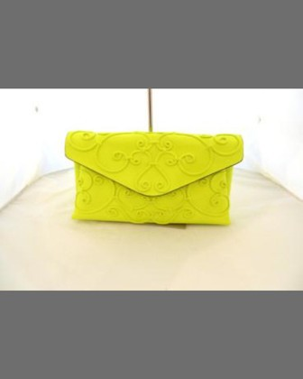 Intricate Large Scroll Envelope Clutch Bag, Fuchsia Fluo - Valentino