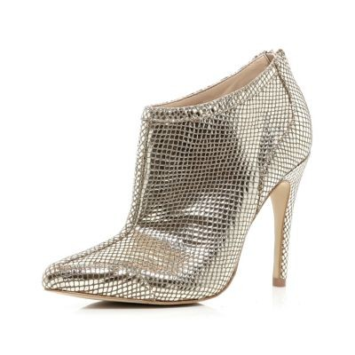Gold snake skin shoe boots