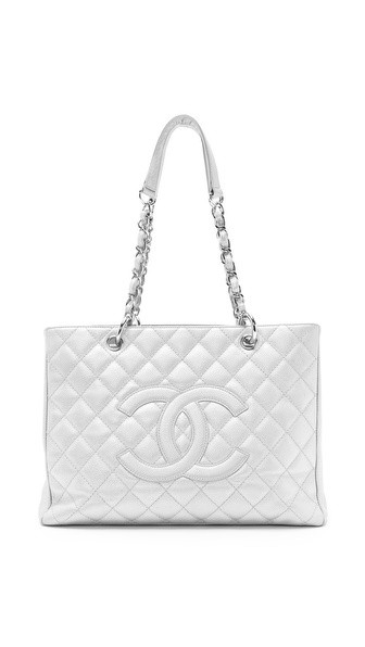 Vintage Chanel Metallic Pearl Caviar Bag