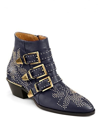 Suzanna Studded Leather Ankle Boots