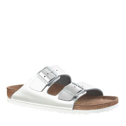 Birkenstock® metallic leather Arizona sandals