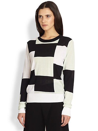 Oak Colorblock Cotton Sweater