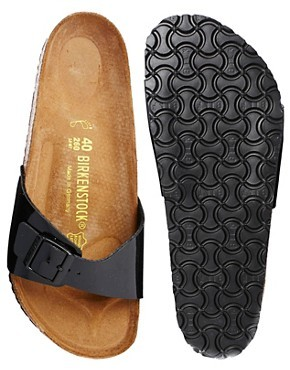 Birkenstock Madrid Black Patent Flat Sandals