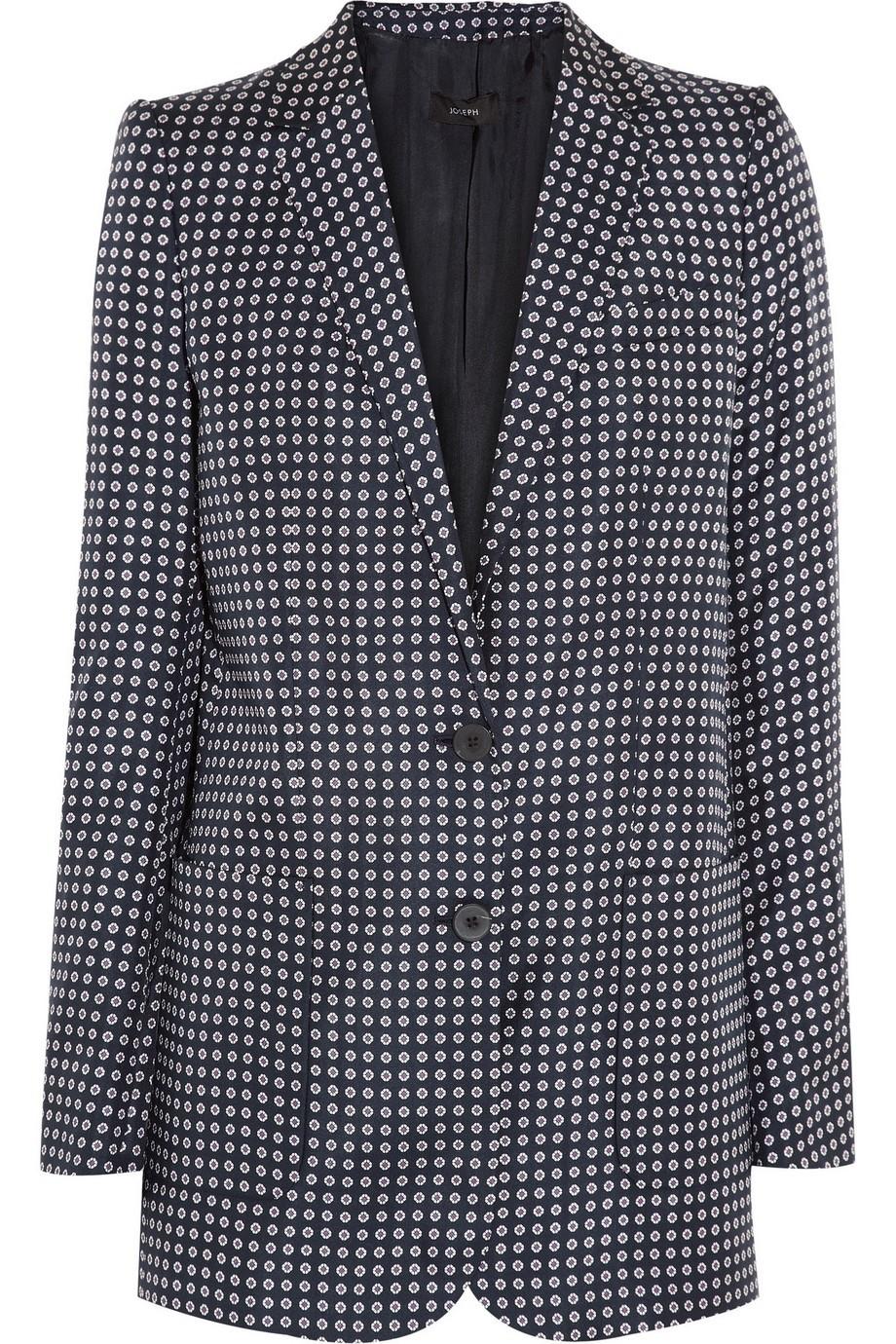 Boy printed silk-twill blazer
