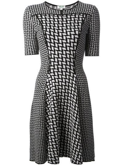 woven pattern dress