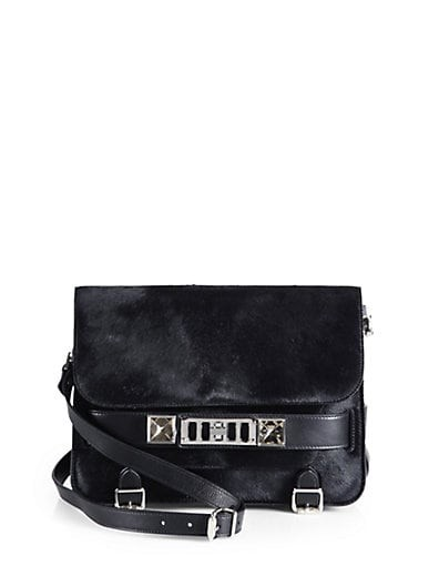 PS11 Classic Calf Hair Shoulder Bag