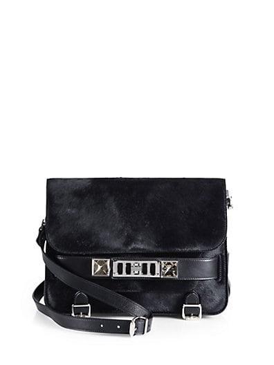 PS11 Classic Calf Hair Shoulder Bag