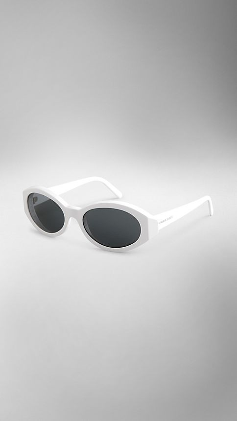 Matte Acetate Oval Sunglasses