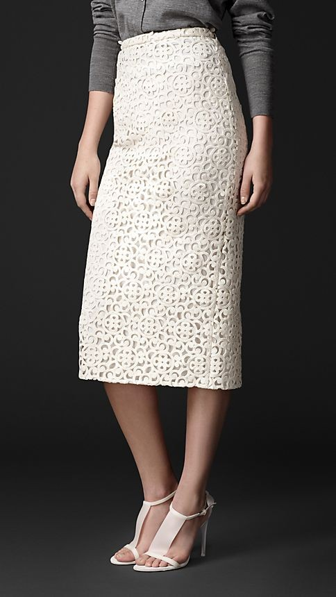 Macramé Lace Pencil Skirt