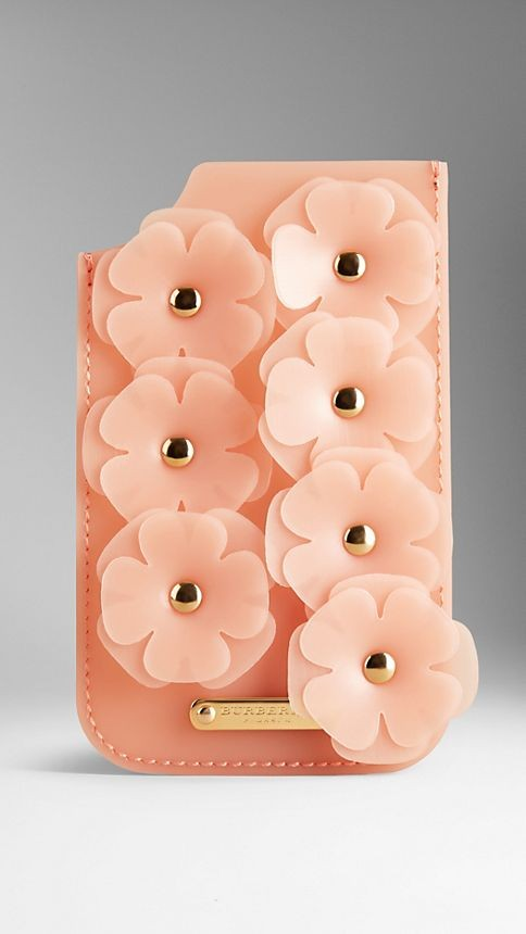 iPhone 5/5s Case in Deerskin and Vinyl with Flowers