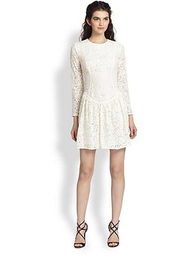 Cutout-Back Lace Dress