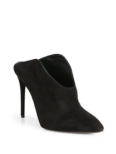 Suede Mule Ankle Boots