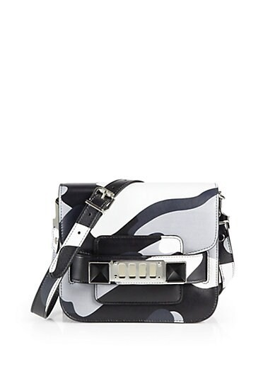 PS11 Camouflage Leather Tiny Shoulder Bag