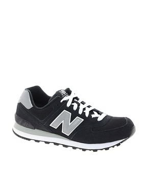 New Balance 574 Black Trainers