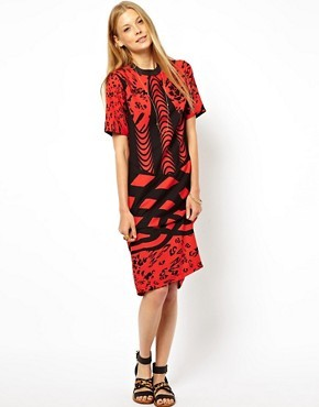 ASOS Monoclash Print Tee Dress