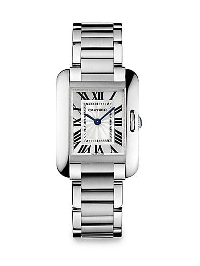 Tank Anglaise Stainless Steel Bracelet Watch/Small