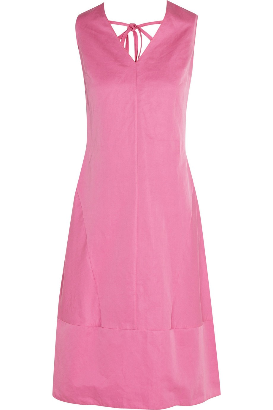 Cotton and ramie-blend dress