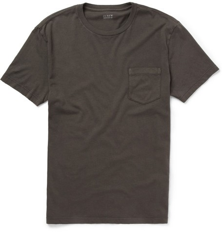 Pocket-Front Slim-Fit Cotton T-Shirt