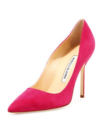 BB Suede 105mm Pump, Fuchsia (Made to Order) 						 					Fit Predictor