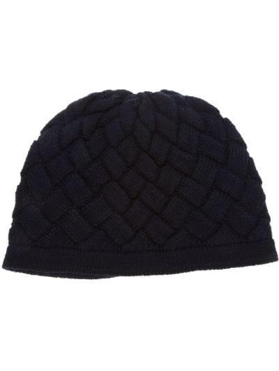 intrecciato knit beanie