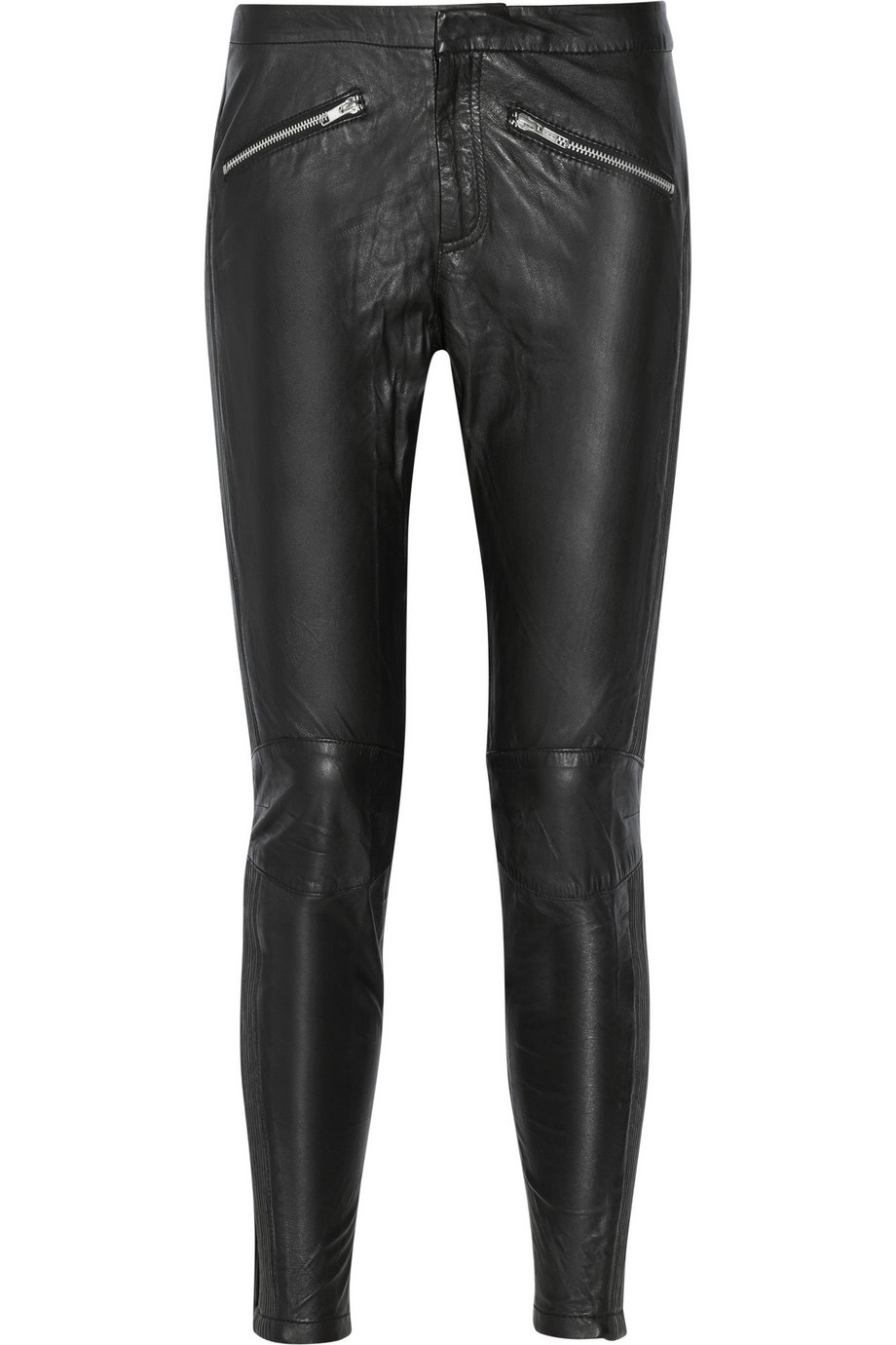 Yasi mid-rise leather skinny pants