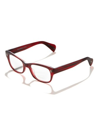 Wacks Fashion Glasses, Red - Oliver Peoples