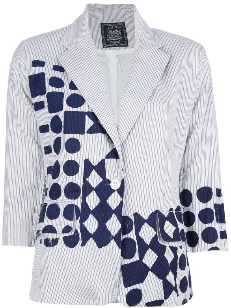 LIBERTINE screen printed shapes blazer