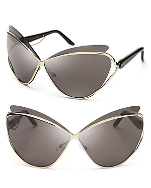 Dior Audacieuse Metal Cat Eye Sunglasses