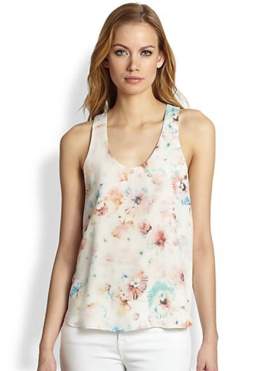 Poppy Blossom Silk Top