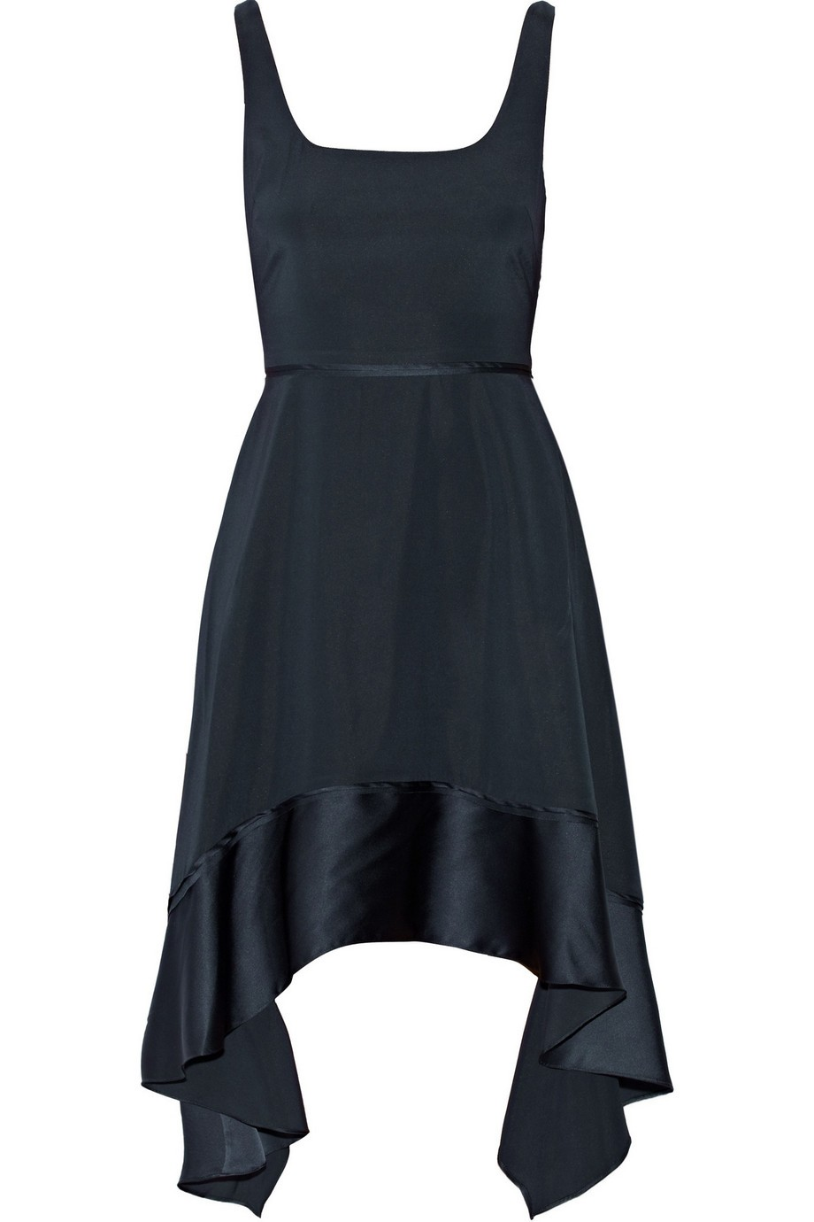 Portia asymmetric silk-blend mini dress
