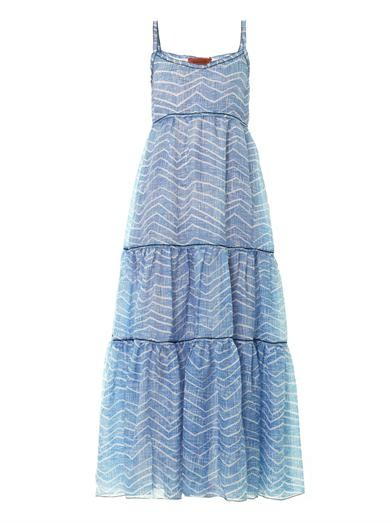 Zigzag-print maxi dress